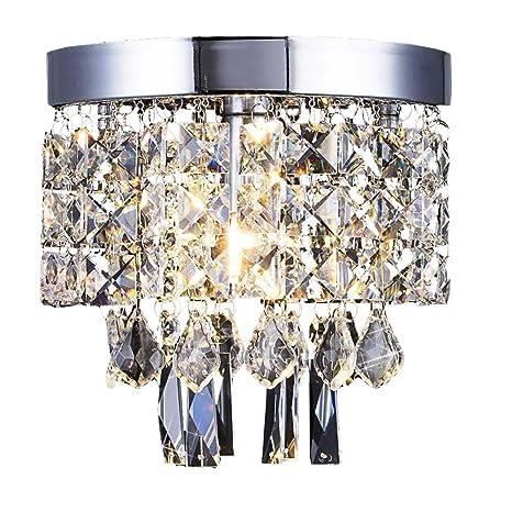 AFSEMOS Lampara Techo,Lámpara de araña de cristal para la sala de estar, dormitorio, pasillo-Ø20cm