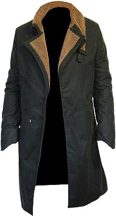 EU Fashions Blade Agent 2049 K - Abrigo de algodón Encerado, Color Negro: Amazon.es: Ropa y accesorios