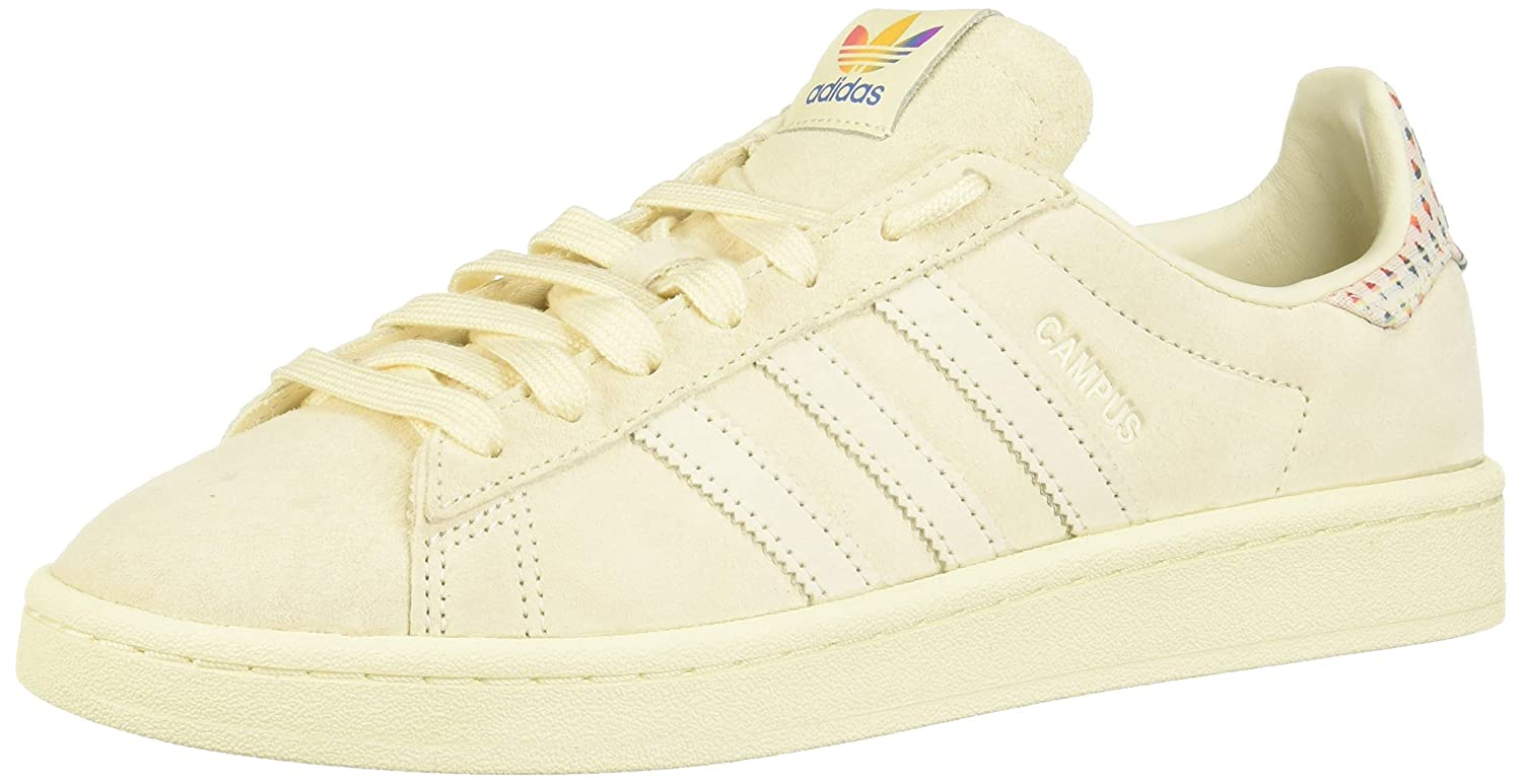 ae9c67a14ea adidas Mens Originals Campus Pride Trainers Sneakers in Cream White ...
