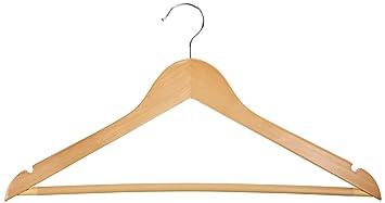 AmazonBasics - Perchas de madera para traje, 30 Unidades