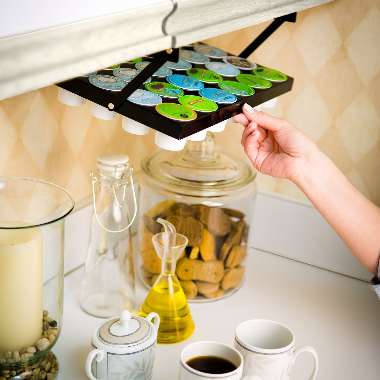 Coffee Keepers Under Cabinet K Cup Holder (608938498274): Amazon.in: Home U0026  Kitchen