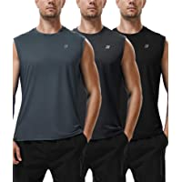 Roadbox Workout Sleeveless Shirts for Men Athletic Gym Basketball Quick Dry Muscle Tank Tops