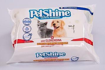 Porrini 11-04235 Toallitas Higiene Perro y Gato, Clorhexidina - 40 Unidades