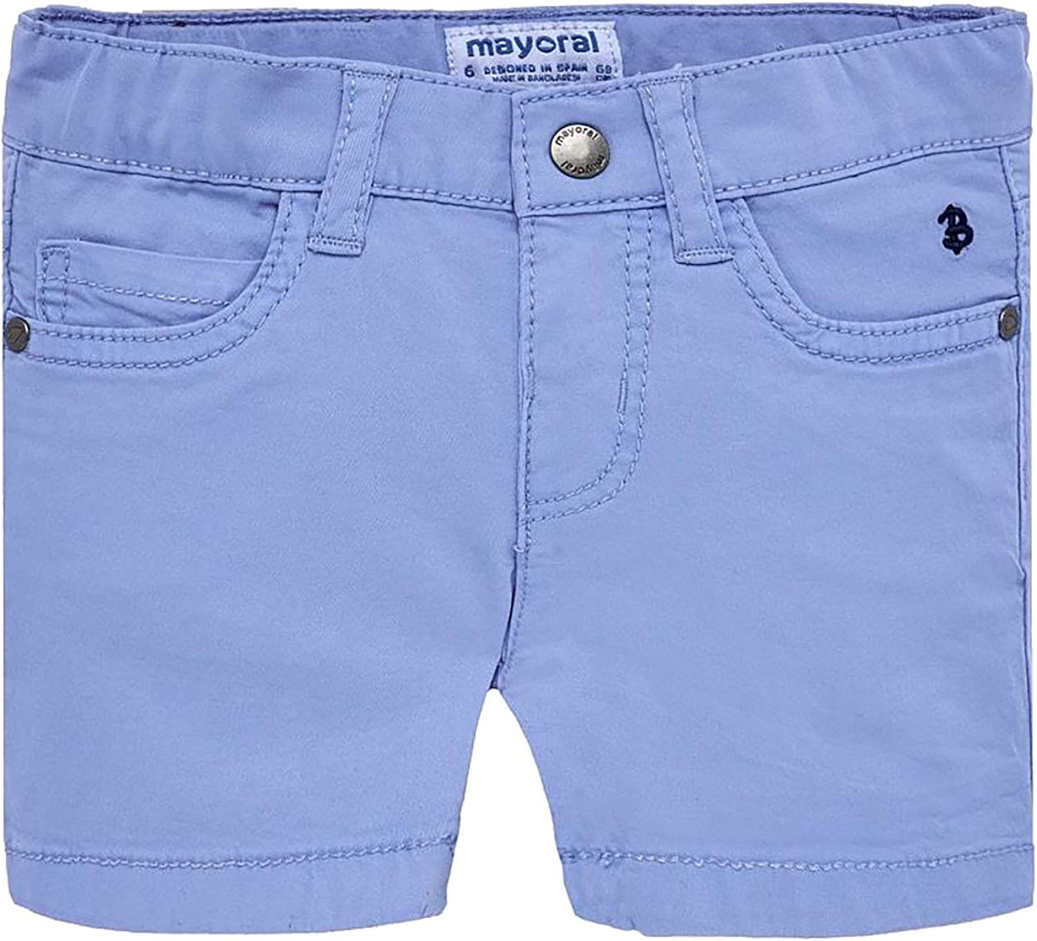 Mayoral Basic 5 Pockets Twill Shorts for Baby-Boys 0206 Lightblue