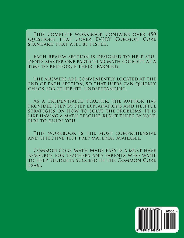 Common Core Math Made Easy, Grade 6: George Tam: 9781515269137 ...