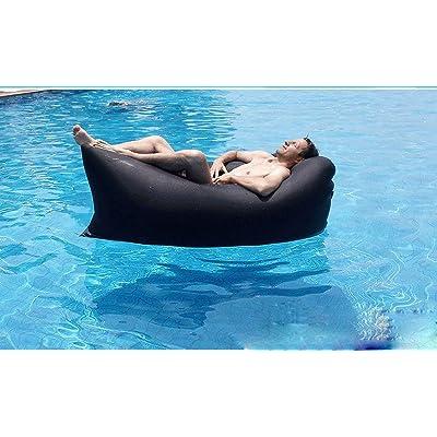 GZZ Canapé Gonflable en Plein Air Portable Pliant Air Canapé Paresseux Sac de Couchage Lit D'Air