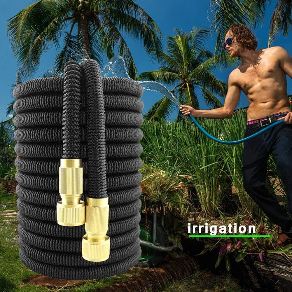 SXGKY Garden Hose Expandable Car Wash Telescopic Flexible Hoses Multi-functional Durable Garden Watering Hose FF (Color : Blue 50FT) Black 25ft
