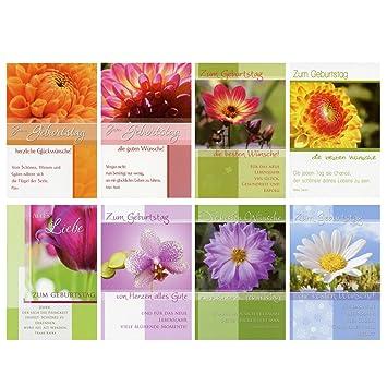 50 Geburtstagskarten Blumen Grusskarten Gluckwunschkarten Geburtstag