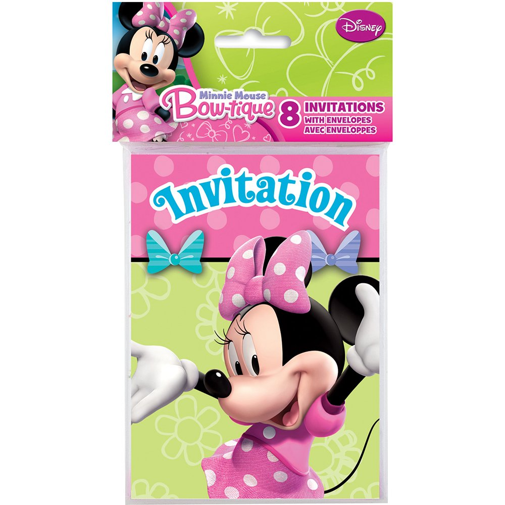 Minnie Mouse Party Invitations 8 Per Pack