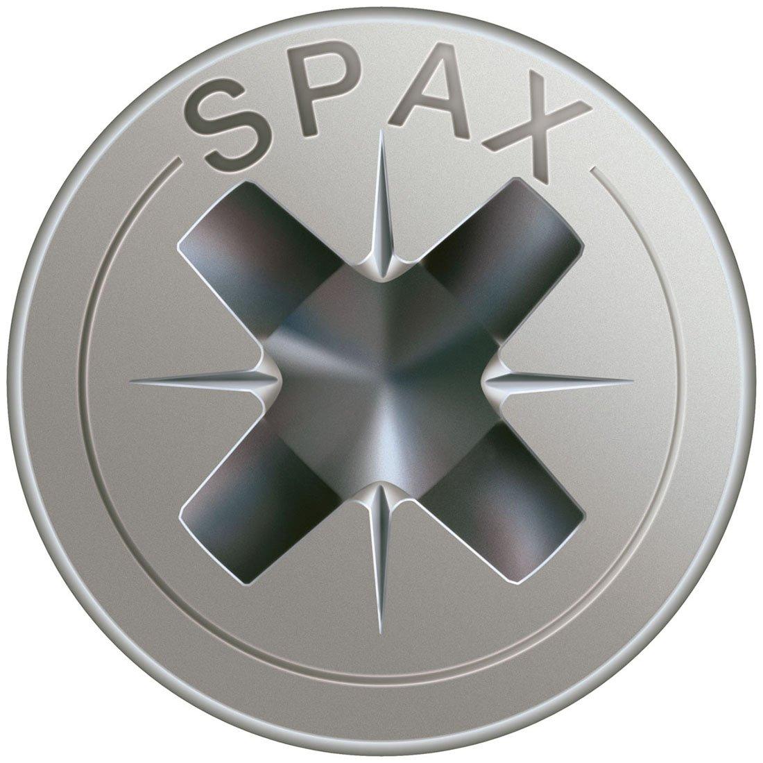 , Acero inoxidable s SPAX 1087000300123 12mm 200pieza Phillips - Tornillo Tornillo, Acero inoxidable, Madera, Cabeza plana, PH