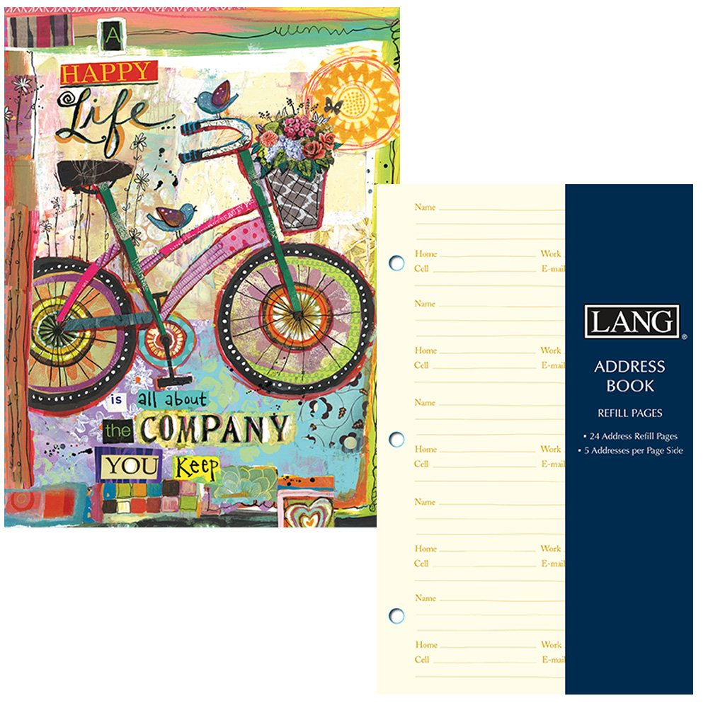 address book for women bicycle design three ring binder with