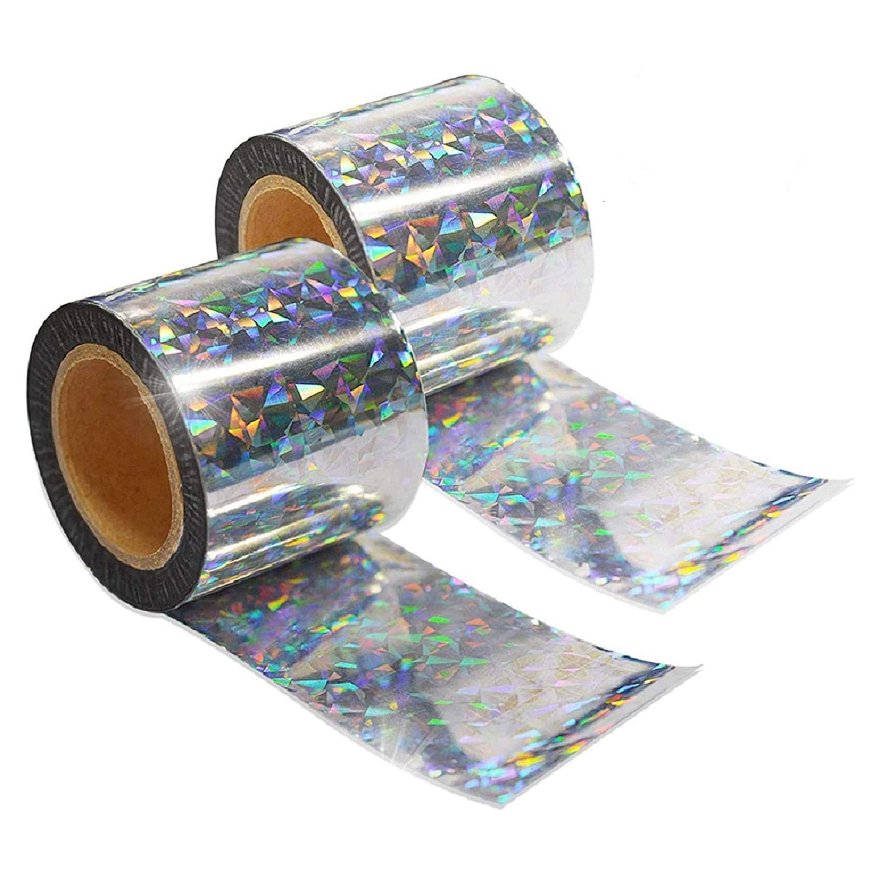 ASPECTEK Bird Repellent Reflective Scare Tape,Wide-width 5cm x 60m Pest Control Dual-Sided Deterrent Tape for Pigeons, Grackles, Woodpeckers, Geese, Herons, Blackbirds & More
