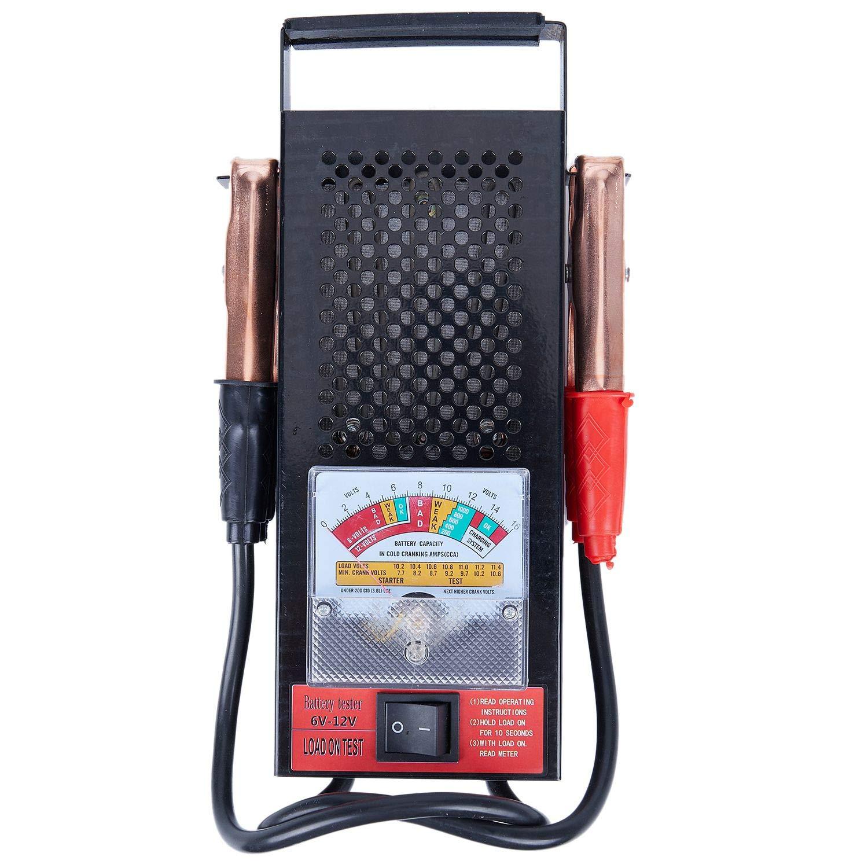 Semoic Batterielast Tester 100 Amp 12V Auto 6V 6 Volt fuer Schumacher 12 Mechanics Truck Type