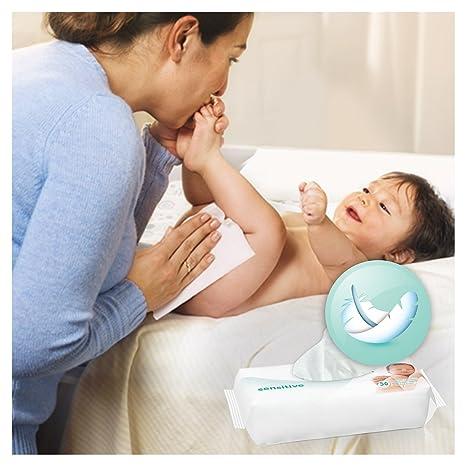 Pampers Sensitive 12 x 56 pcs - toallitas húmedas para bebé (Caja, 5, 725 kg, 19, 8 cm, 29, 9 cm): Amazon.es: Salud y cuidado personal