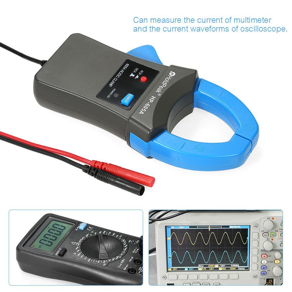 Leepesx HoldPeak 600A DC//AC Adaptateur de pince amp/èrem/étrique avec pince de test