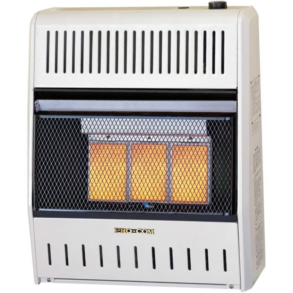 ProCom Dual Fuel Ventless Infrared Heater 20,000 BTU, Model# MNSD3TPA-BB, 23-1/2 X 19-1/4 X 8-3/4, White by ProCom