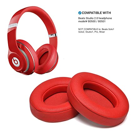 Amazon.com: Beats Ear Cushion, AGPtEK 2 Pieces Red Foam Replacement ...