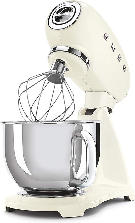 Smeg Robot De Cocina SMF03CREU Crema 10 Velocidades, Acero ...