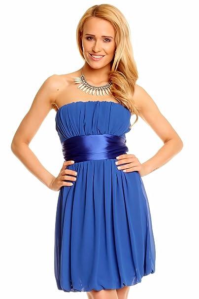 be6c85e07811 Mini Bandeau Kleid Chiffon Ballonkleid Ballkleid Abendkleid Cocktailkleid  Festkleid  Amazon.de  Bekleidung