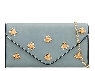 LeahWard Women s Designer Evening Bags Party Wedding Clutch Purse 202 (Blue  ... e495cd3bb3d85