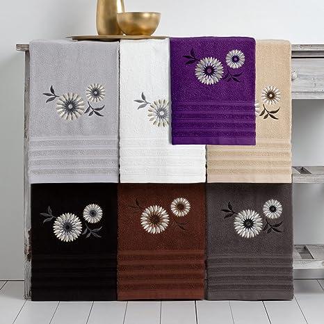 Barceló Hogar 05050090121 Juego 3 toallas para bidé, lavabo y ducha, modelo Amalia,