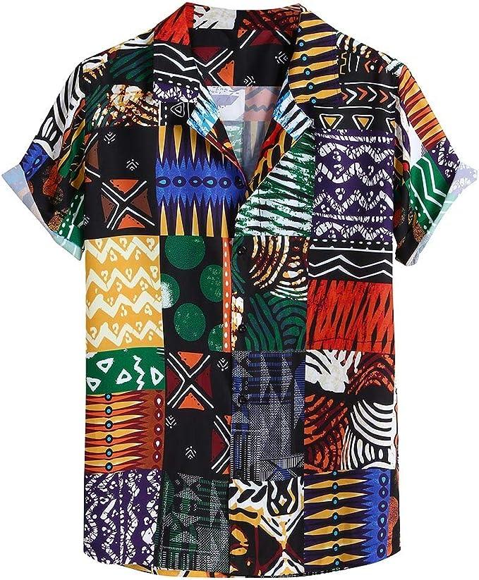 Herren Langarm Hemd Mit Gestreiften Knöpfen Slim Fit Strand Hawaii Herbst Shirt
