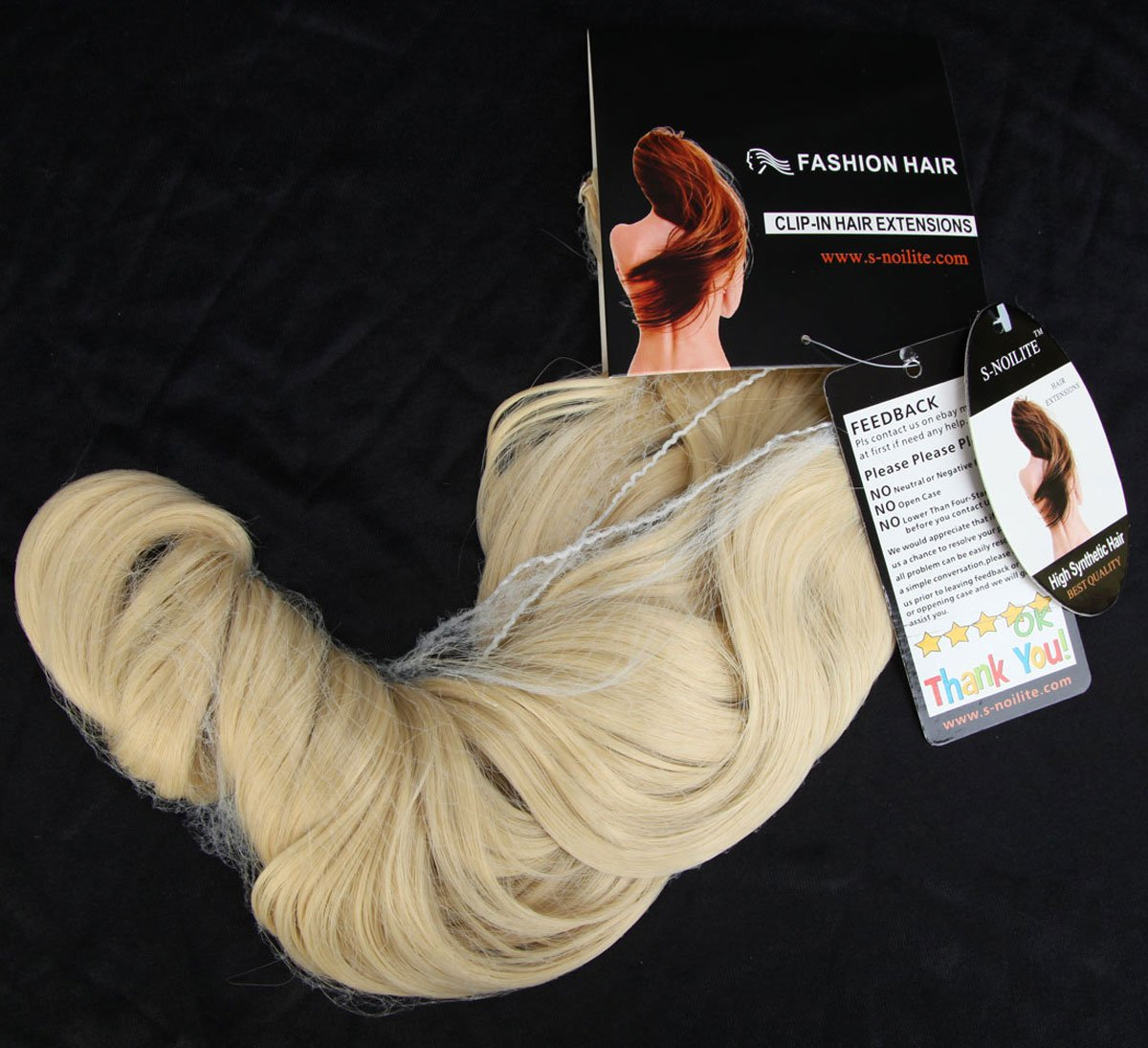 S de noilite 60 cm de clip en pelo notebook 3/4 peluca Clip en extensiones pelo garantía Gel ockt Ondulado un tresse pelo (descolorante Rubio): Amazon.es: ...