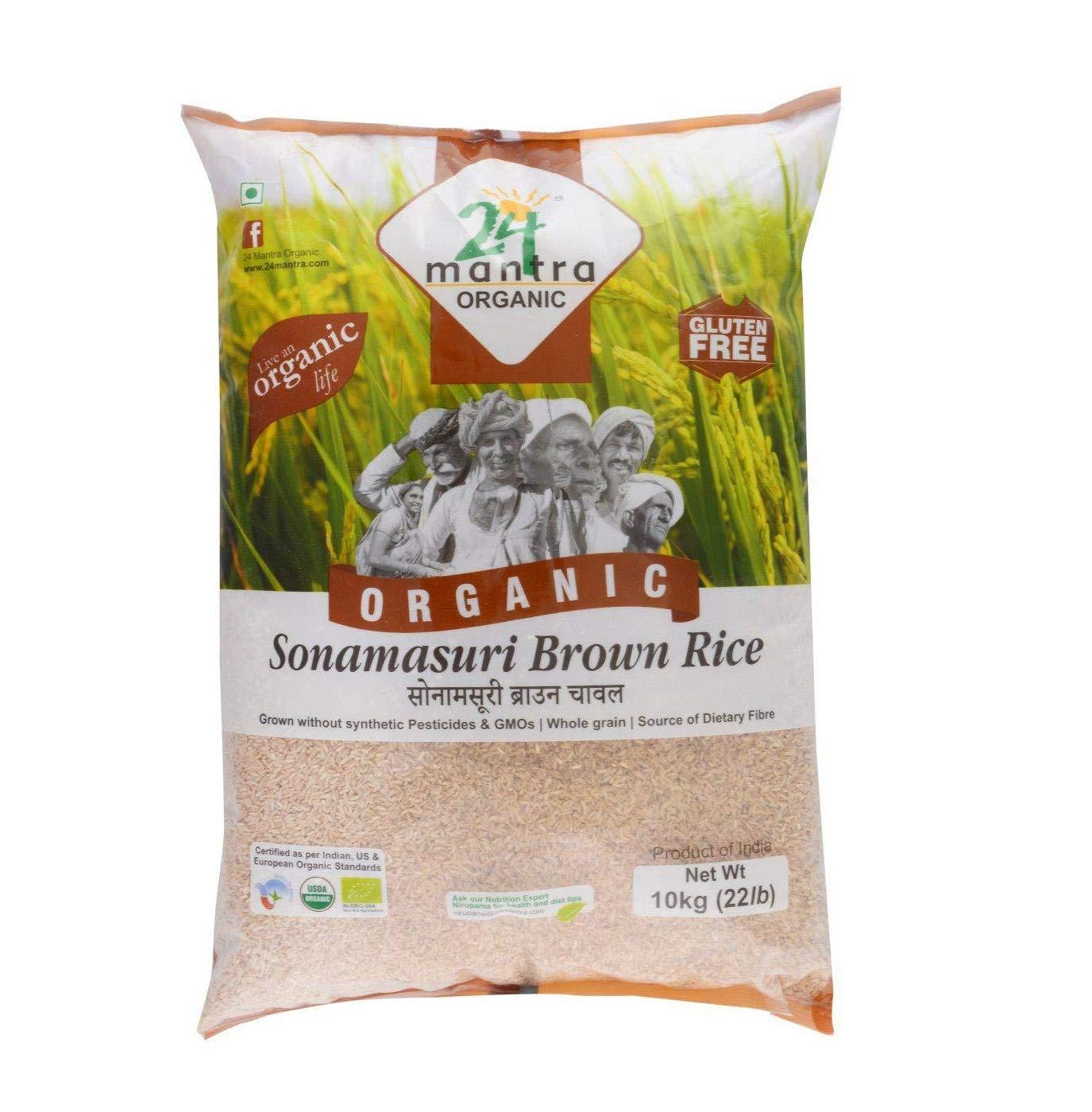24 Mantra Organic Sonamasuri Brown Rice, 10kg (B01LL3XQ7I) Amazon Price History, Amazon Price Tracker