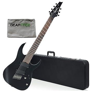 Ibanez rgim7mhwk RG hierro etiqueta multi-scale (7 cuerdas Guitarra eléctrica (erosionado negro) W/gamuza de limpieza y duro caso: Amazon.es: Instrumentos ...