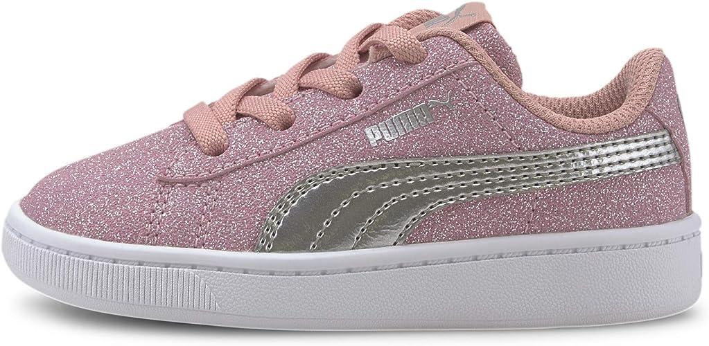 PUMA Kids' Vikky V2 Glitz Slip on Sneaker