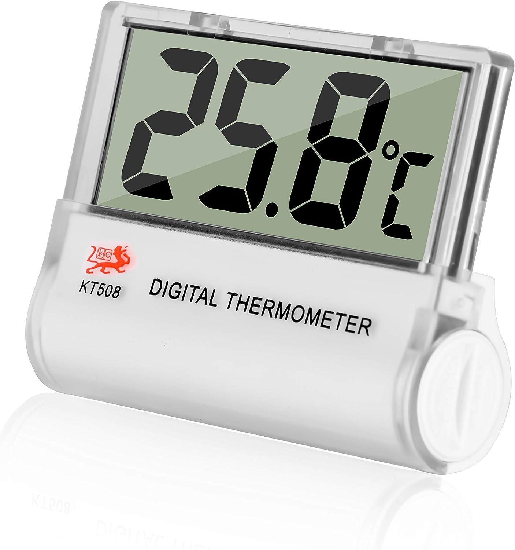 Gellvann Termometro per Acquario Digitale Termometro per Ambienti Mini LCD Termometro per Acquario Digitale per Acquario Acquario Vivarium Anfibio Rettile Terrari Temperatura