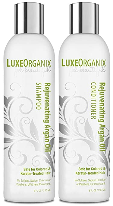 1. LuxeOrganix Moroccan Oil Shampoo and Conditioner