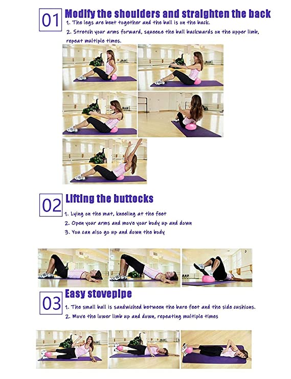 Amazon.com : TRER Mini Yoga Ball Yoga Pilates Ball Explosion ...