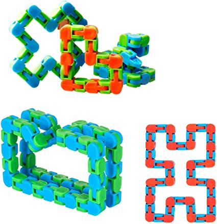 Funny 24 Knot Fidget Chain Anti Stress Toys For Kids Adults Jigsaw Puzzle Educational Toys Random Color Parkomm Wacky Tracks Snap and Click Fidget Toys