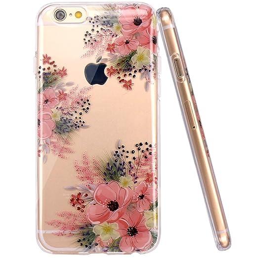 2 opinioni per Cover iPhone 6 6S, JIAXIUFEN TPU Gel Silicone Protettivo Skin Custodia