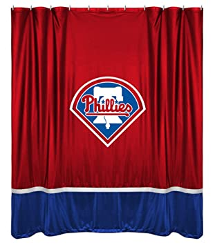 MLB Philadelphia Phillies Baseball Bathroom Shower Curtain