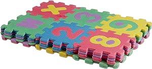 سجادة بازل فوم مربعة للاطفال، 13×13 سم - متعددة الالوان