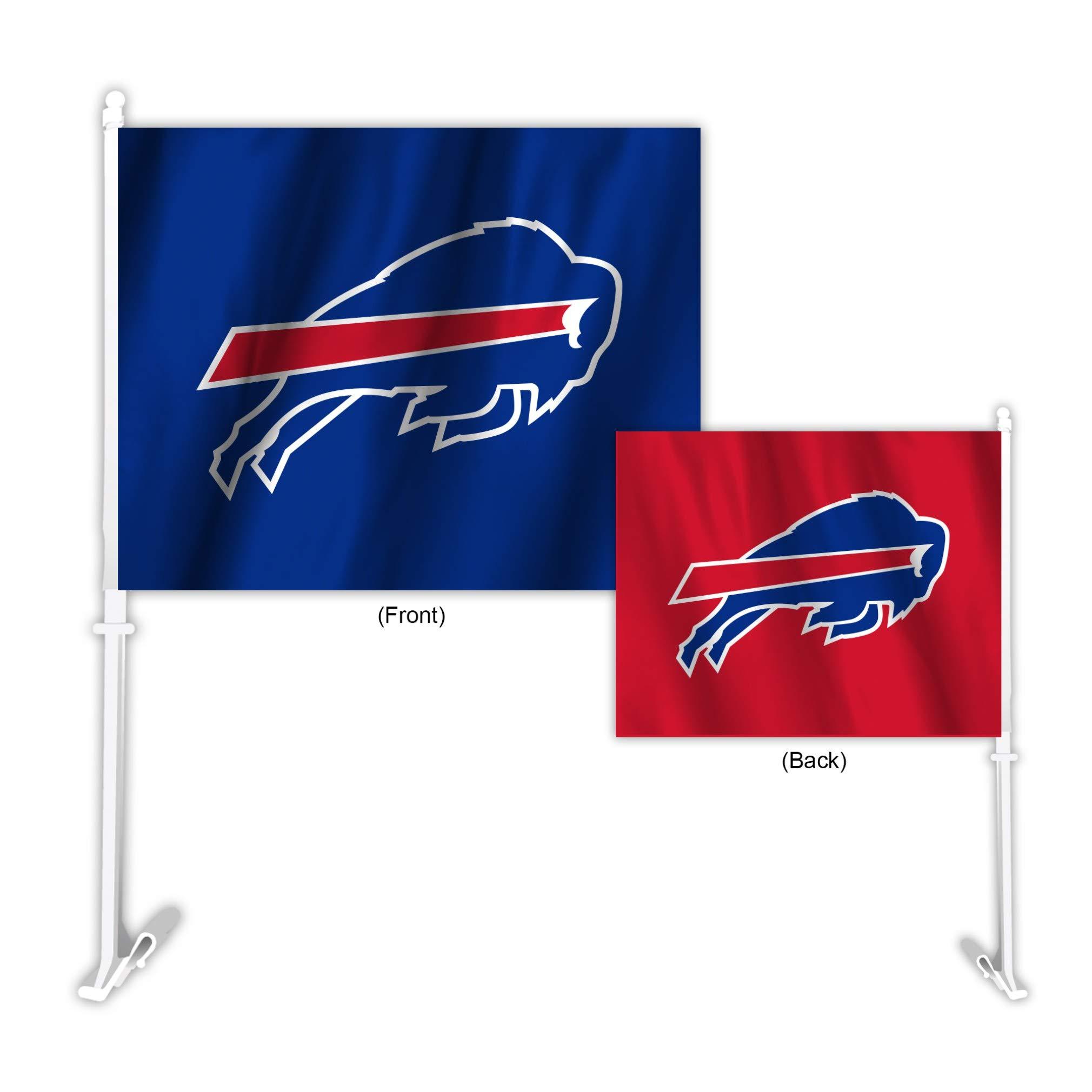 Fremont Die NFL Buffalo Bills Home & Away Car Flag