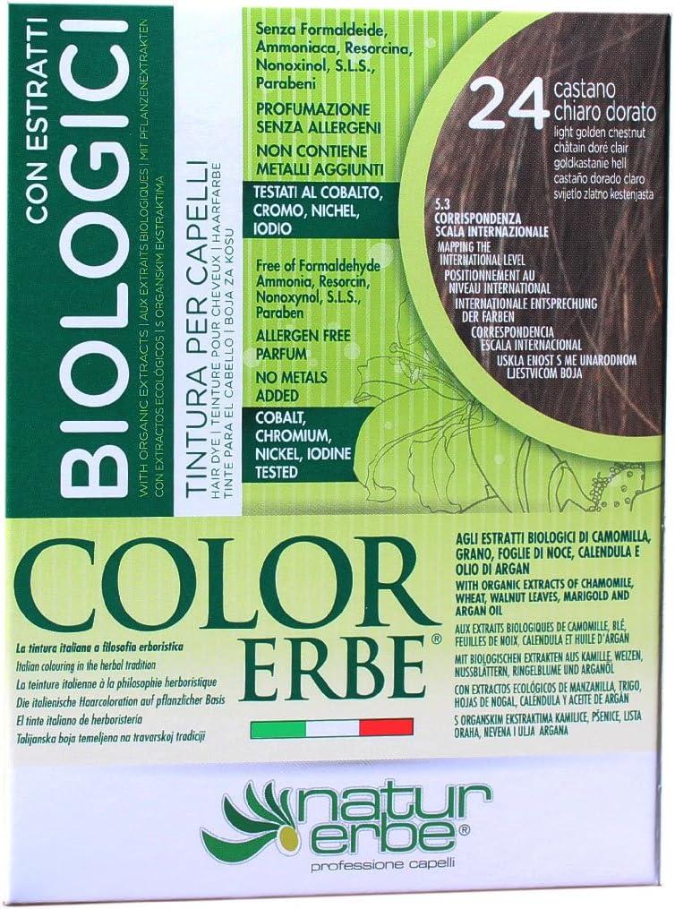 Naturerbe - Tinte Color Erbe, con extractos orgánicos, tono 24 ...