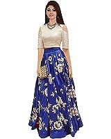 Gloxi Fashion Women's Blue Banglory Silk Lehenga Choli (GL_Blue_143)