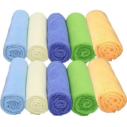 10 unidades toallas de microfibra paños de limpieza – gamuza de sin pelusas para coche para