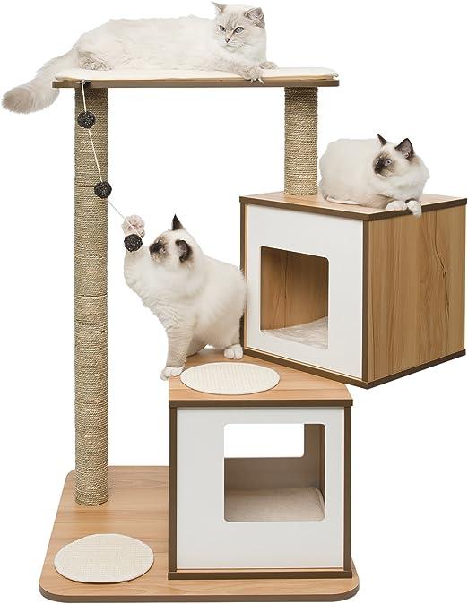 VESPER Mueble Rascador para Gatos V-Doble, Color Blanco: Amazon.es: Productos para mascotas