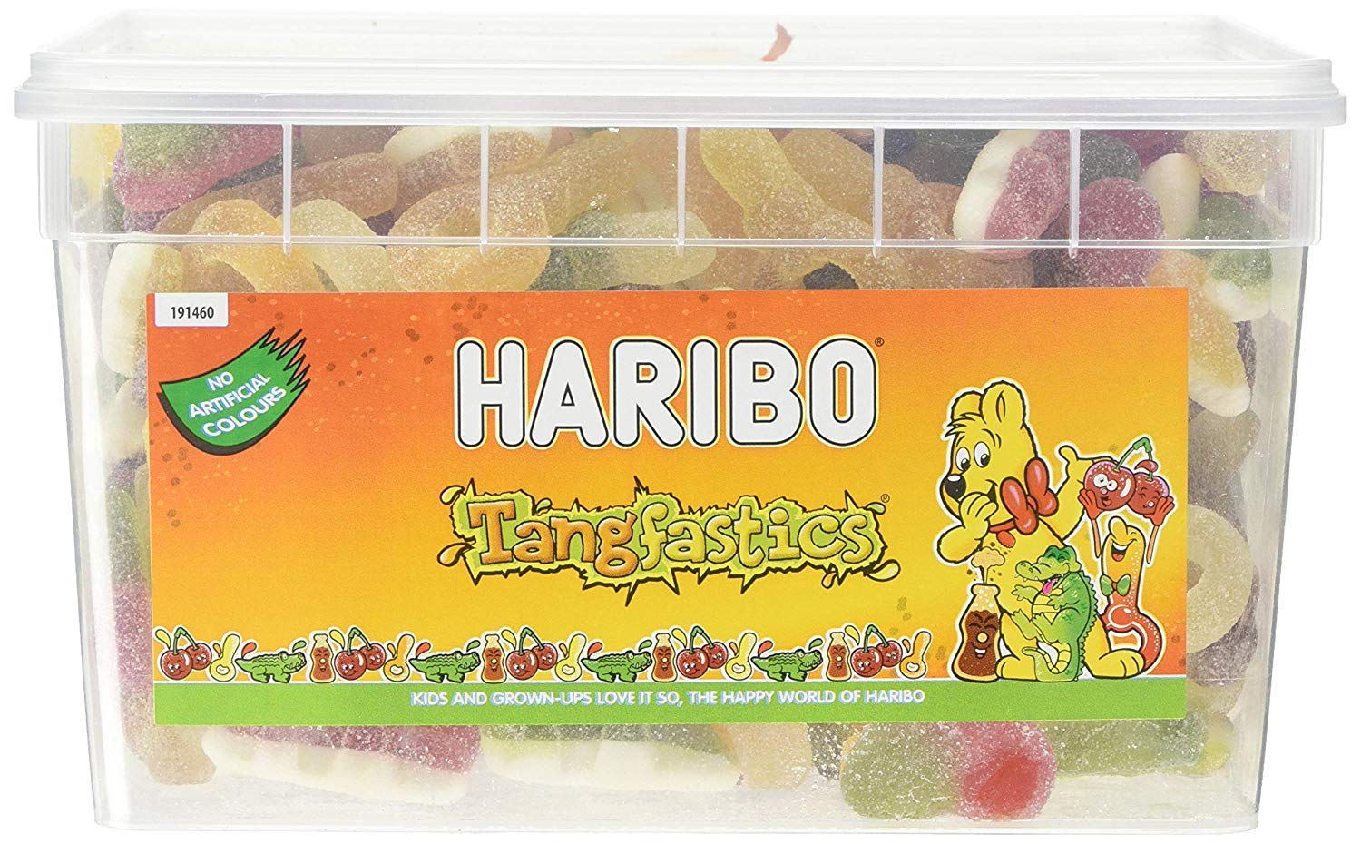Haribo Tangfastics bulk sour sweets tub, 1.75kg by Sweets