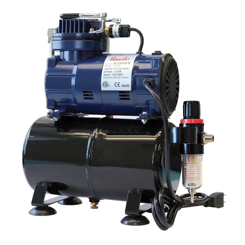 Paasche D3000R 1/5 HP Compressor with Tank, Regulator and Moisture Trap