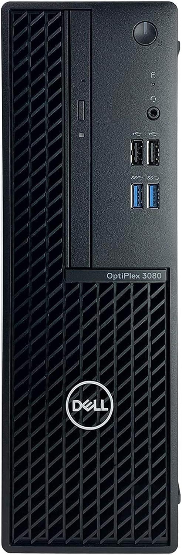 Dell OptiPlex 3080 SFF Desktop + TEKi Wireless Mouse (Bundle) - 10th Gen Intel Core i7-10700 up to 4.80 GHz CPU, 16GB DDR4 Memory, 1TB Hard Drive, Intel UHD Graphics 630, DVD Writer, Windows 10 Pro