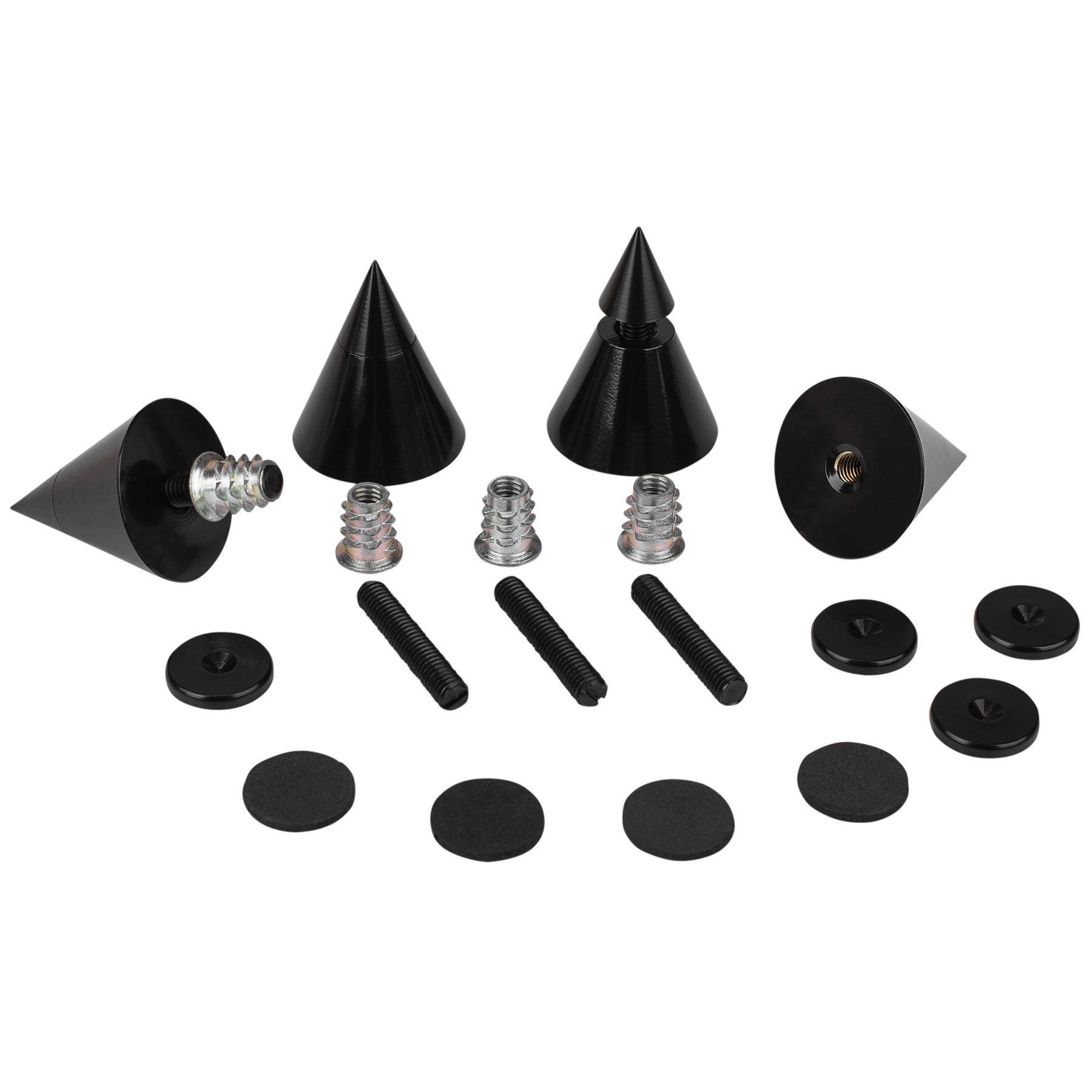 Dayton Audio DSS4-BK Black Speaker Spike Set 4 Pcs. by Dayton Audio