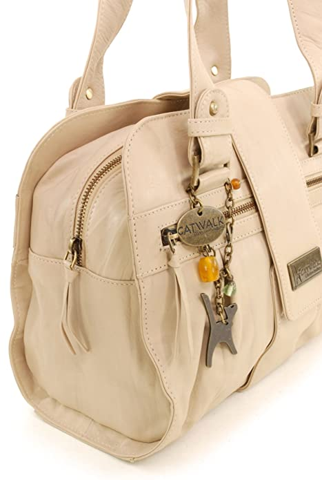 CATWALK COLLECTION - ZARA - Bolso de mano - Cuero - Biscuit (Blanco roto): Amazon.es: Zapatos y complementos