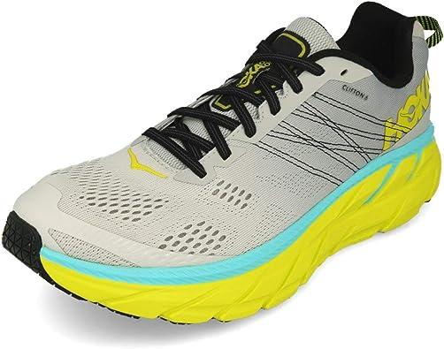 HOKA ONE One UNE Zapatillas de Correr para Hombre Clifton 6, Gris (Nube Lunar/Numbus), 47 1/3 EU: Amazon.es: Zapatos y complementos