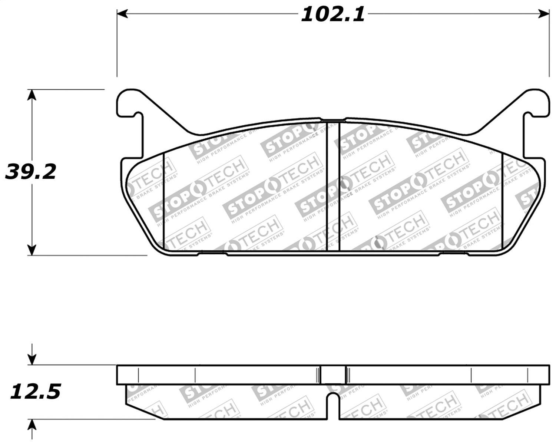 StopTech 309.04580 Street Performance Rear Brake Pad