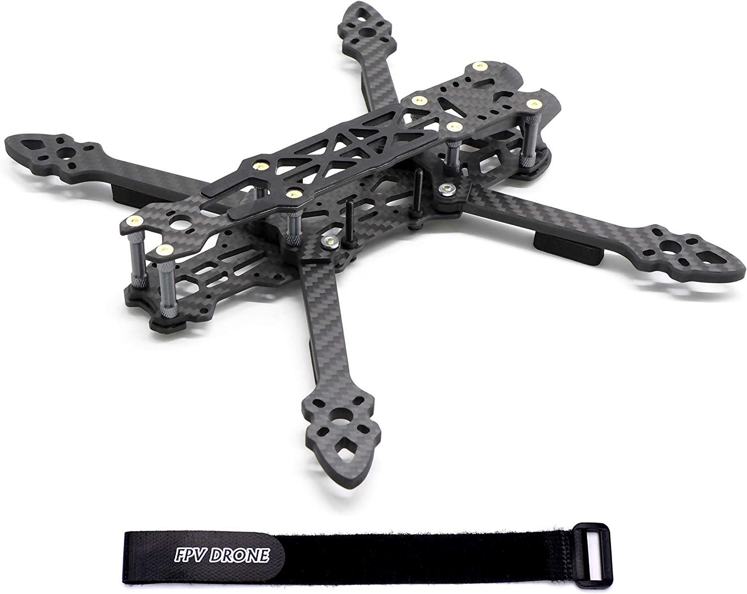 Fpvdrone 225mm Fpv Racing Drone Frame Carbon Fiber 5inch Quadcopter Freestyle Frame Kit With Lipo Battery Strap Toys Games